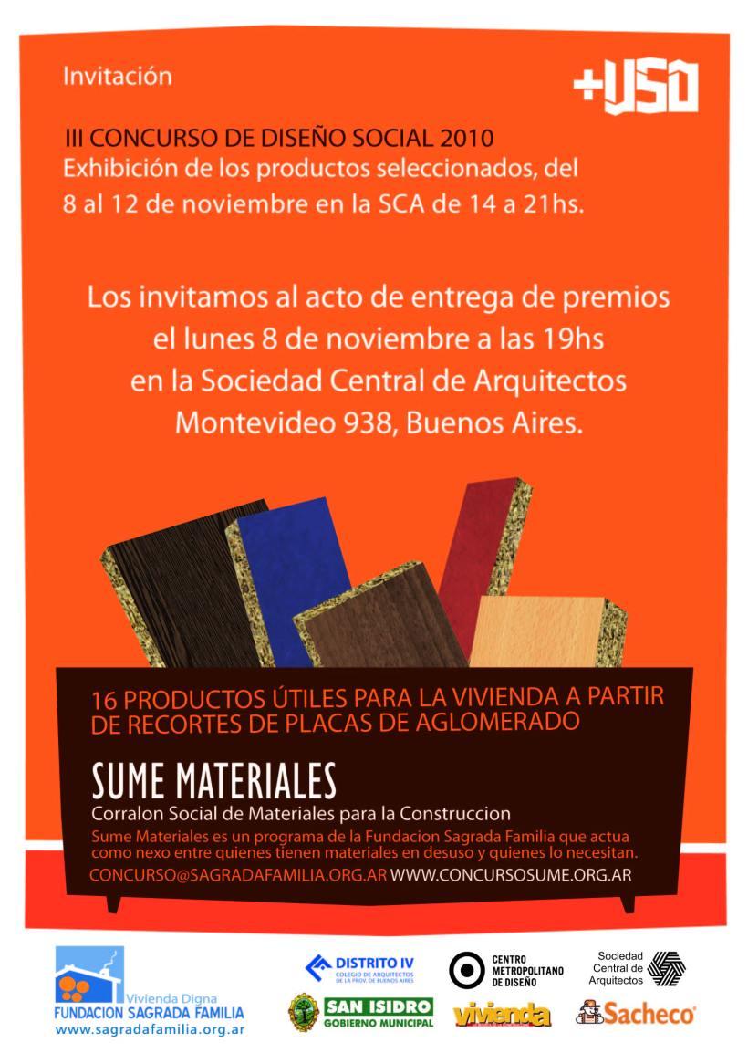 Entrega de premios lunes 8 de noviembre 19hs en Montevideo 938, Sociedad Central de Arquitectos